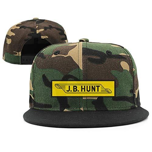 (GRFF Unisex Trucker Hat Printing Ventilate JB-Hunt- Hip-Hop Cap)