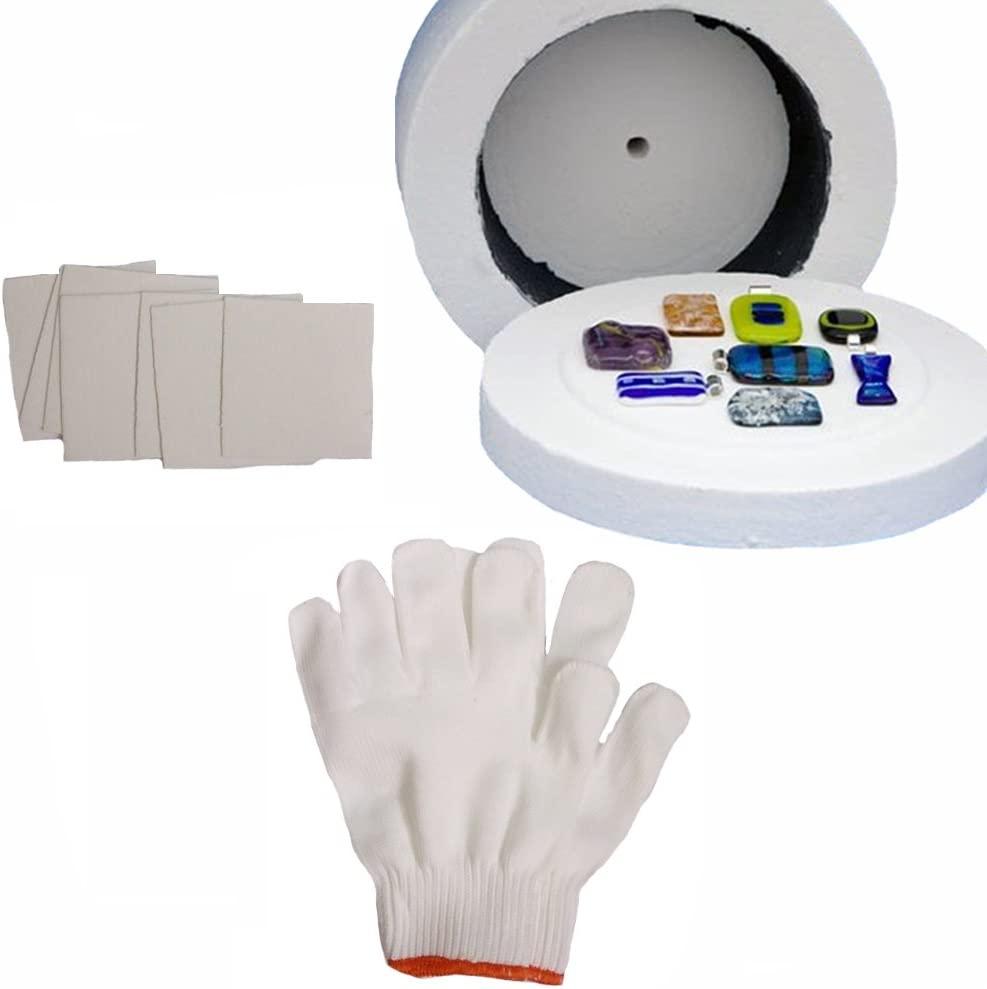 1 Large Microwave Kiln 1 Pair of White Cotton Gloves and 10 Sheets of Kiln Papers