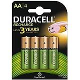 Duracell HR6 / DC1500, Pilas Recargables AA 1300 mAh, Paquete de 4
