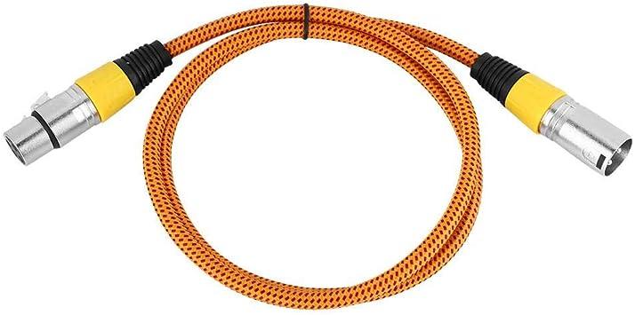RiToEasysports Cables de Guitarra Cable de micrófono Cable de micrófono de Guitarra Tipo D Tejido Cable XLR Micrófono Mic Cable de Audio Mezclador Cable de conexión 1m (Amarillo): Amazon.es: Deportes y aire