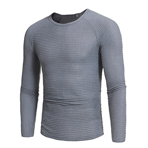 Toimothcn Mens Slim Fit Pullover Tops Blouse Autumn Winter Casual V-Neck Sweaters Cozy Warm  (Gray1,M)