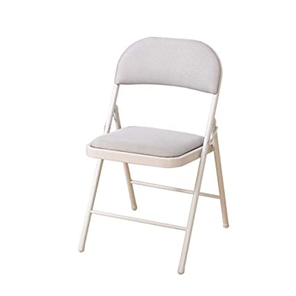 Amazon.com: WGXX Chair Deluxe Fabric Padded Folding Chair -Strong ...