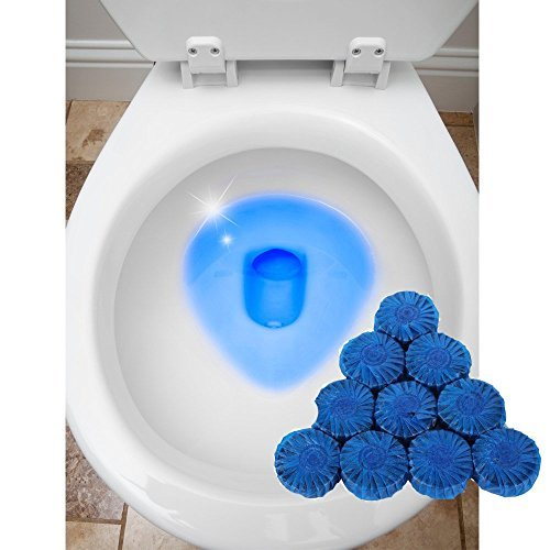 (24 Automatic Bleach Toilet Bowl Cleaner Stain Remover Blue Tab Tablet Flush Tank)