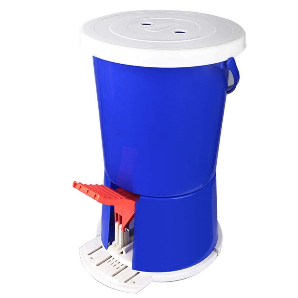 Mini lavadora de tipo pedaleo, diseñ o portá til y compacto No es necesario utilizar material plá stico de PP elé ctrico con capacidad de 2KG (azul) para los viajes en auto para acampar al aire libre de u Sunjun