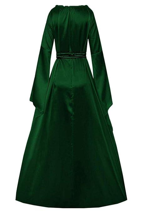 Vestido de Cintura Alta de Princesa para Mujer, Manga Larga, Vestido Medieval gótico Victoriano, Estilo de Vestuario de Reina