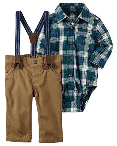 Carter's Baby Boys' 3 Piece Plaid Dress Me Up Set 18 (Baby Boy Dress Outfit)
