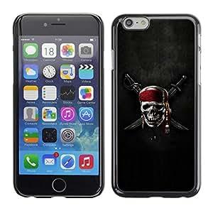 LECELL -- Funda protectora / Cubierta / Piel For Apple iPhone 6 -- Pirate Crest Skull & Sword --