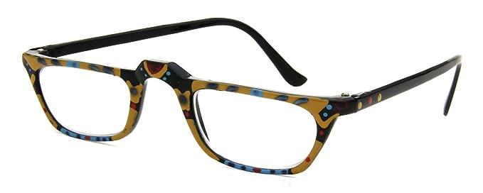 Amazon.com: Hand Painted Designer Fashion Reading Glasses Rasscally ...