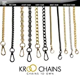 Kroo® Long Gold Tone Mini Purse/Shoulder/Cross Body Bag Replacement Metal Strap