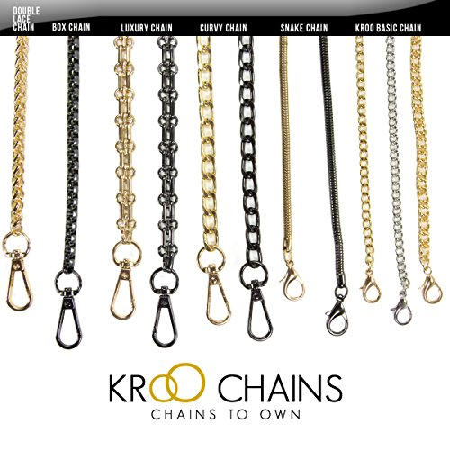 Kroo® Long Gold Tone Mini Purse/Shoulder/Cross Body Bag Replacement Metal Strap