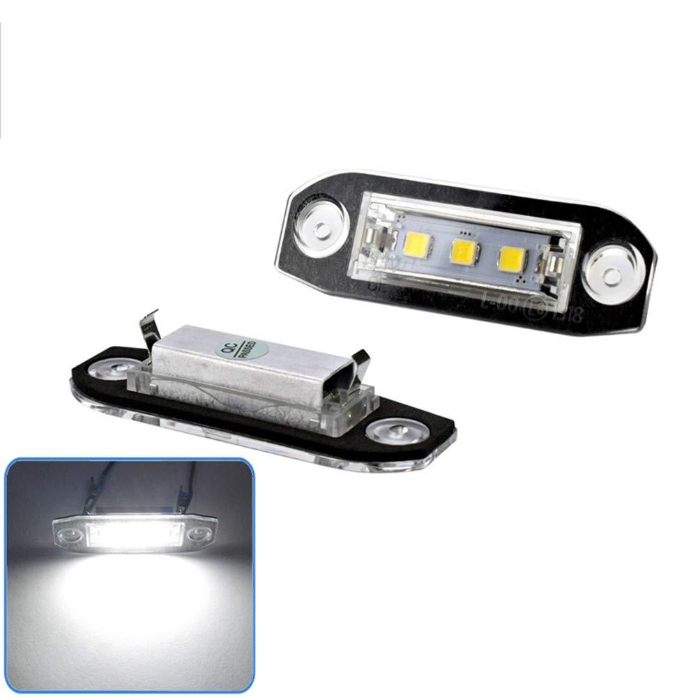 Zantec Luce Targa Luce Targa LED 2Pcs per Volvo S40 S60 S80 XC70 XC90