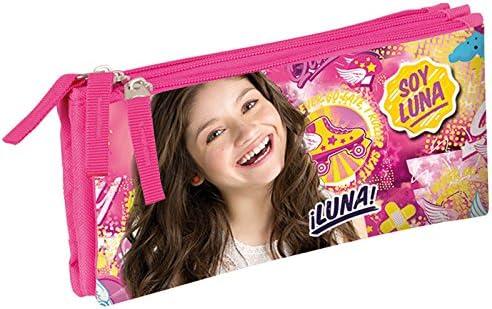 Soy Luna – Estuche escolar Triple patines en línea Fly soy Luna: Amazon.es: Oficina y papelería
