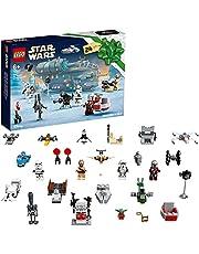 LEGO 75307 Star Wars Adventskalender 2021 Bouwspeelgoedset, The Mandalorian Kerstcadeau Ideeën voor Kinderen van 6 met Baby Yoda-minifiguur