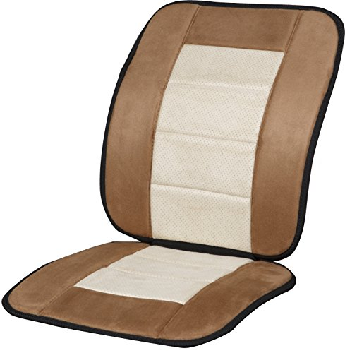 Kool Kooshion Microsuede Full Seat Cushion, Tan/Beige