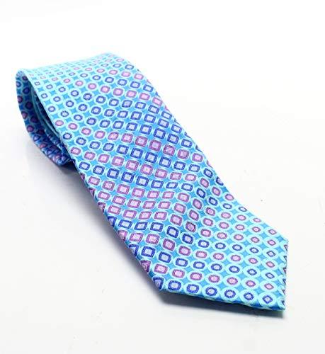 Geoffrey Beene Pink Men's One Geo In Prints Silk Neck Tie Blue Not Applicable