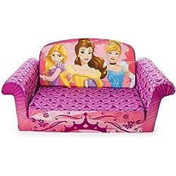 Marshmallow Furniture - Children's 2 in 1 Flip Open Foam Sofa, Disney Princess Flip Open Sofa