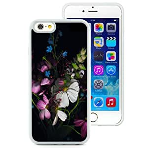 Fashionable and DIY Phone Case Design with iOS 8 Default Colorful Flowers iPhone 6 4.7inch TPU case Wallpaper in White