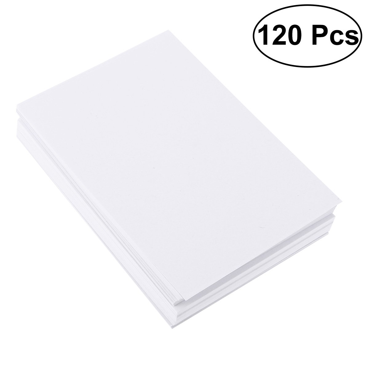 Healifty 120 Sheets Cotton Watercolor Paper Bulk Cold Press Paper Drawing Paper for Watercolorist Students Beginning Artists