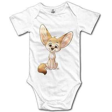 db0788db9 Amazon.com: Fennec Fox Baby Infant Bodysuit - Short Sleeve Onesie Romper  White: Clothing