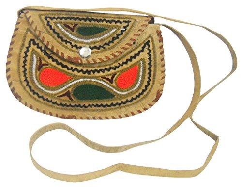 Camel Sling Bag Multi Handmade Attractive Leather Embroidered Color Shoulder Hn4IwA6q