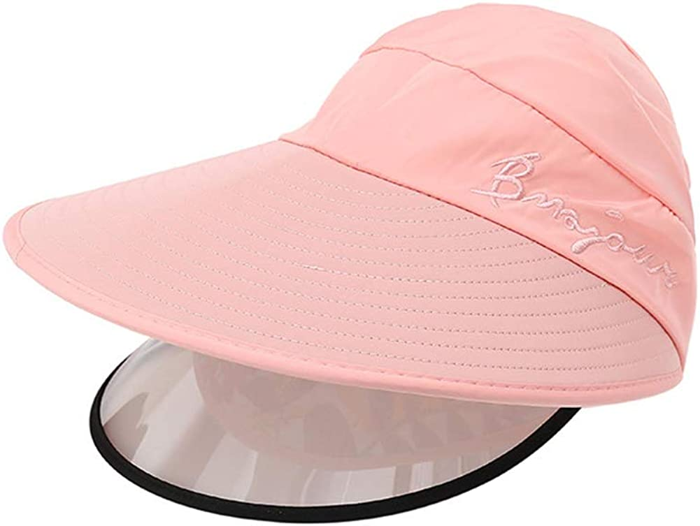 FEOYA Gesichtsschutzschirm Visier Gesichtsschutzschild UV Sonnenhut Augenschutz Staubschutz Visierschutz Spritzschutz Damen M/ütze