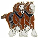 """Clydesdale Horses Pin 1"""""""