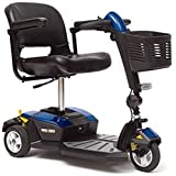 Pride Mobility - Go-Go LX with CTS Suspension - Travel Scooter - 3-Wheel with CTS Suspension - Blue
