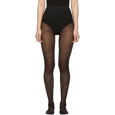 da08c76826212 (バレンシアガ) Balenciaga レディース インナー・下着 タイツ・ストッキング Black Logo Tights [並行
