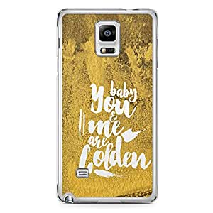 Loving Samsung Note 4 Transparent Edge Case - You and me are golden