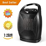 Dr.fasting 1500W Quick Heat Ceramic Space Heater with Safety Tip Over Switch