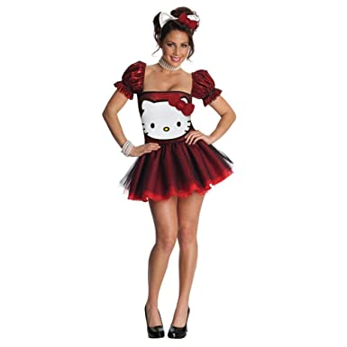492f4138a67 Image Unavailable. Image not available for. Color  Hello Kitty Red Glitter  Dress Adult ...