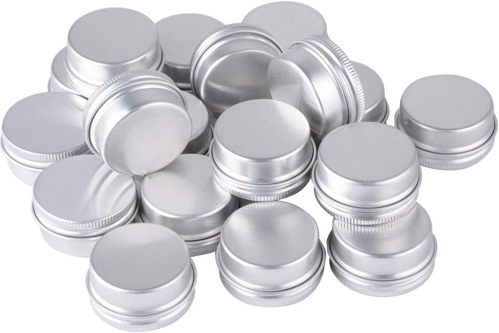 20 pi/èces canettes en aluminium rondes couvercle /à vis bo/îtes en m/étal bocaux vides Slip Slip conteneurs pour bricolage bougie artisanat bijoux tri stockage Bo/îtes en aluminium
