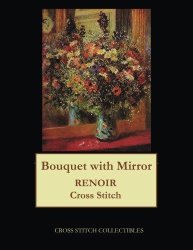 Bouquet with Mirror: Renoir cross stitch ()