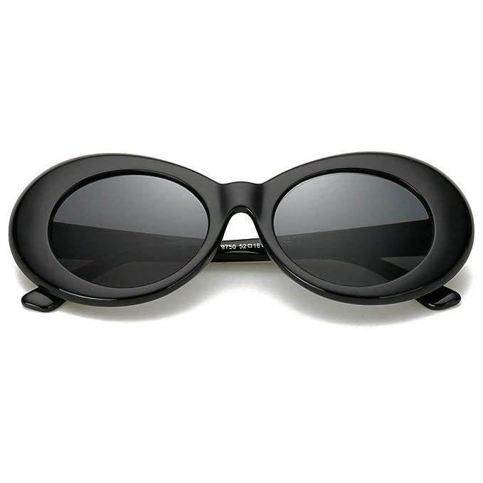 Retro Clout Goggles Oval Sunglasses Mod Thick Frame Kurt Cobain