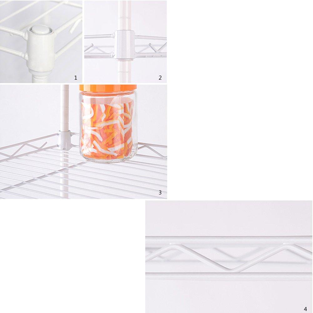2 Couleurs 55X30X55cm LIANGJUN Etag/ère De Cuisine M/étal /Égouttoir Support De Four /À Micro-ondes Couleur : Silver