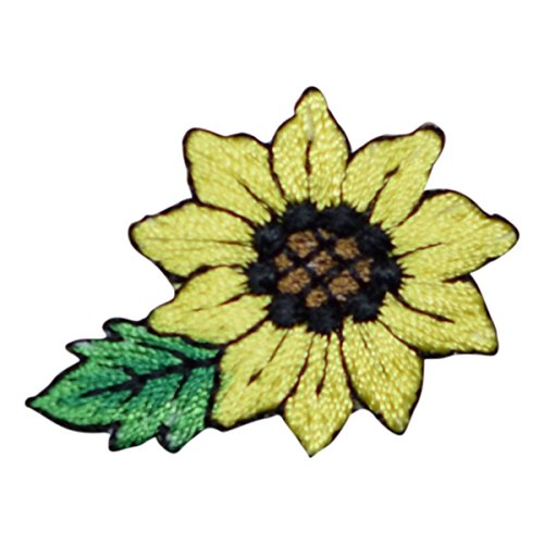 Sunflower Applique Patch (Small, Iron on)