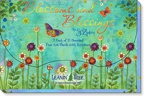 Leanin Tree Greeting Card Assortment Blossoms And Blessings (Leanin Tree Boxed Cards)