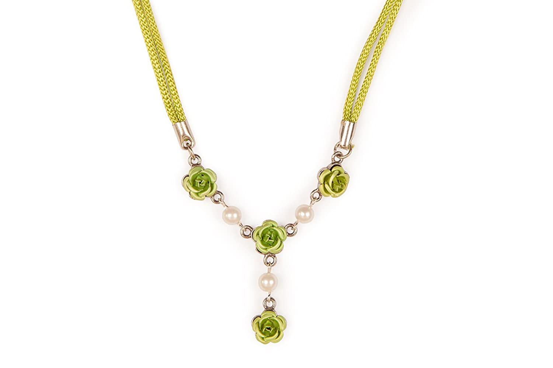 Damen Trachten Halskette - ROSEN -