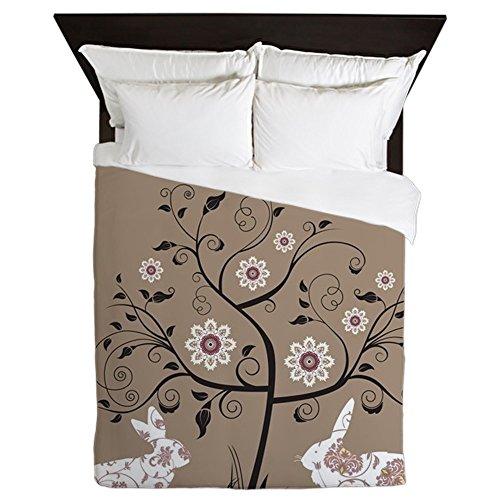 CafePress - Easter Greeting Card. Raster Version O - Queen Duvet Cover, Printed Comforter Cover, Unique Bedding, Microfiber by CafePress