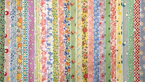 100 1930's Reproduction Fabric Fat Eighths Feedsack Quilt Shop Quality No Dups 100% Cotton by Assorted Quilt Shop Brands (Image #2)