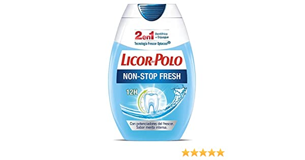 Licor del Polo Pasta de dientes 2 en 1 Non-Stop Fresh - Con ...