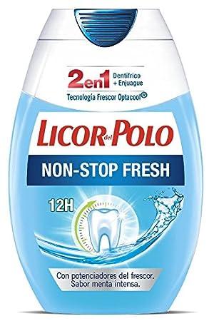 Licor del Polo - Pasta de dientes 2 en 1 Non Stop Fresh - 6 uds de ...