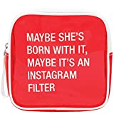 gravis filter - About Face Designs Say What-Instagram Filter Clear Vinyl Cosmetic Bag, 6.5