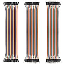 SIM&NAT 12inch / 30cm 40 Pin Male to Female Dupont Wire, 40 Pin Male to Male, 40 Pin Female to Female Breadboard Jumper wire Ribbon Cables kit for Arduino Raspberry Pi 2 / 3 (120 PCS)