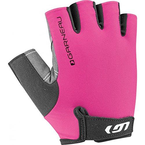 Louis Womens Glove - Louis Garneau Women's Calory Padded, Breathable, Shock Absorbing, Half Finger Bike Gloves, Pink Glow, Large
