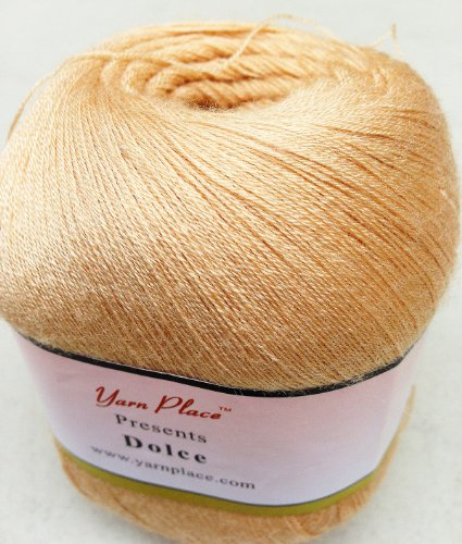 Yarn Sahara (Yarn Place Dolce Lace Weight Yarn 1 Skein 62.5g 1093 Yds (Sahara Sand 9113))