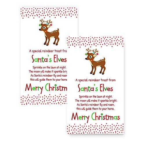 Magic Reindeer Christmas Bag Tag Set of 20 Kid's (Reindeer Gift Tags)