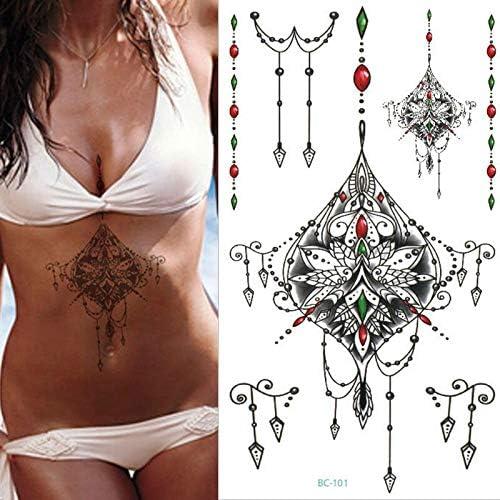 tzxdbh 1 Hoja Nuevo Pecho Flash Tattoo 23model Gran joyería Collar ...