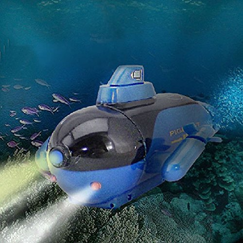 BranXin(TM)2016 New Hot Classic Mini Radio Remote Control Sub RC Submarine With LED for Children Kids Gifts ping