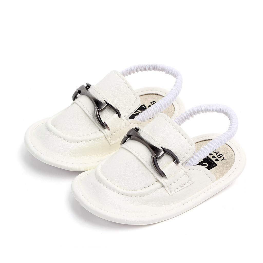 Newborn Baby Girls Boys 3-18 Months Metal First Walkers Soft Sole Shoes